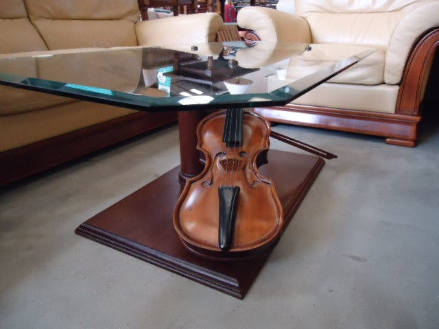table basse violon discount table basse violon pas cher 150 euros val d oise. Black Bedroom Furniture Sets. Home Design Ideas