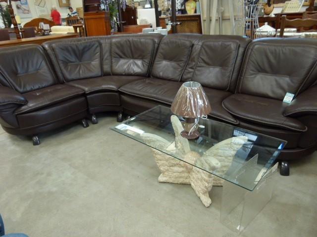 canap d 39 angle cuir marron discount canap d 39 angle cuir marron pas cher 690 euros val d oise. Black Bedroom Furniture Sets. Home Design Ideas