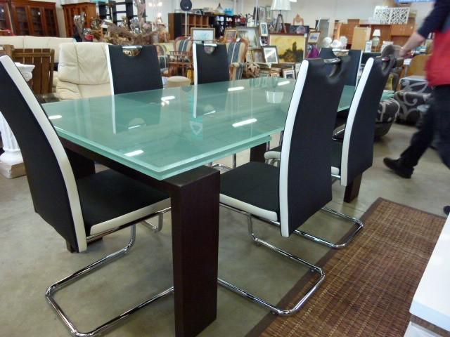 table verre design italie