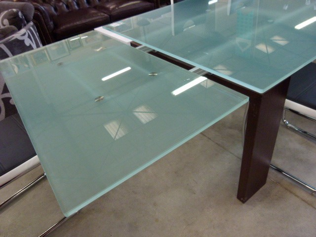 table verre design italie